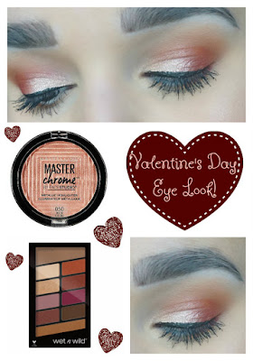 Easy Valentine's Day Eye Look Using Drugstore Products