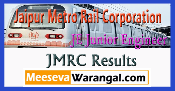 JMRC Jaipur Metro Rail Corporation Junior Engineer Results 2017