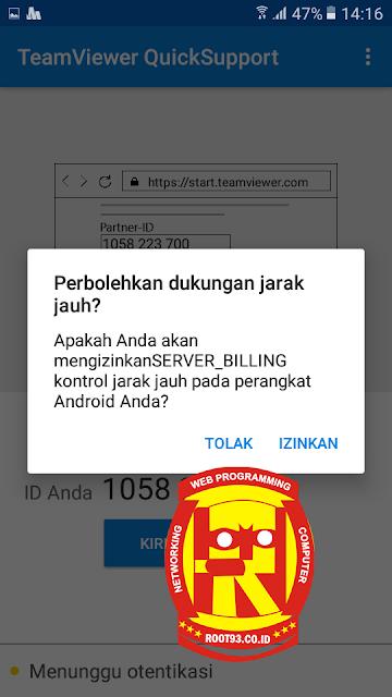 notifikasi akses ke perangkat