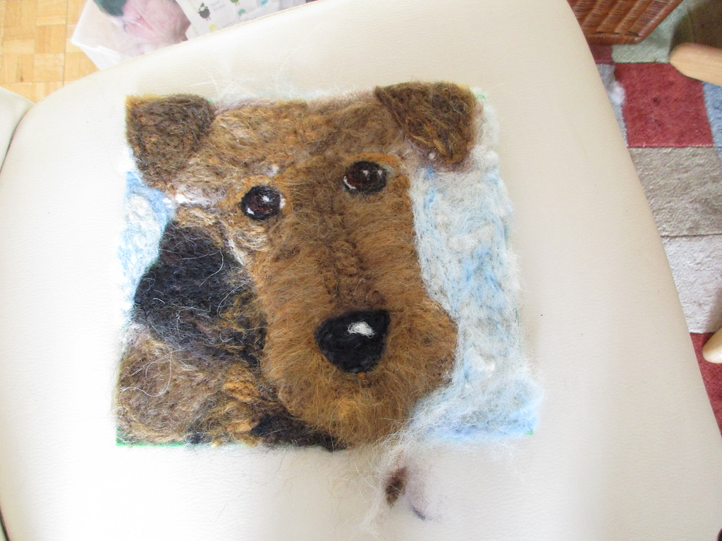 Bonnie the Airedale Terrier (sold)