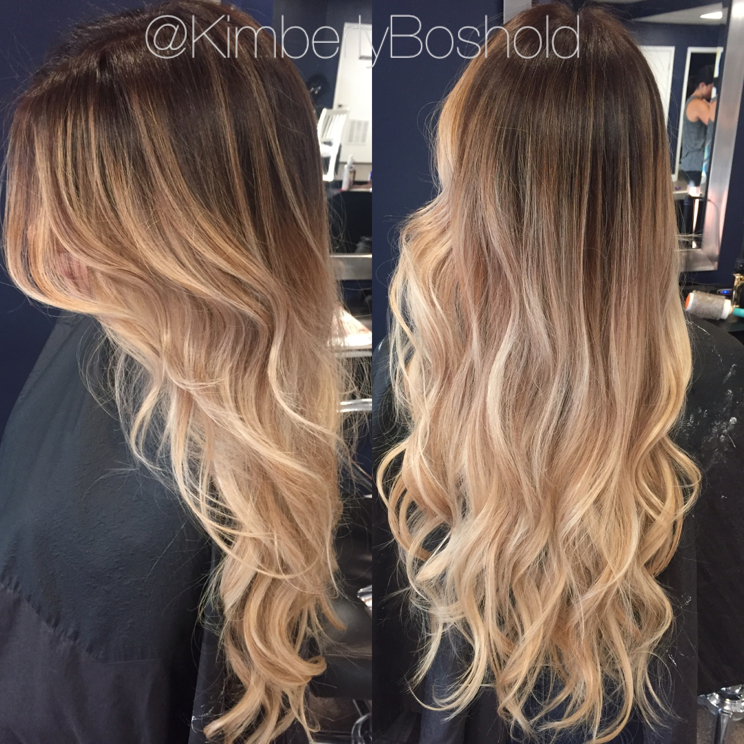 This took a few hours to create but it was well worth the wait. I started with a neutral brown base and melted it down into a beige blonde balayage.
