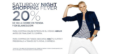 SATURDAY NIGHT SHOPPING FEVER BLANCO