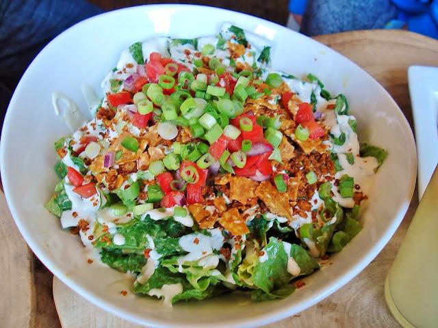 Taco Salad at Raw Aura, Port Credit
