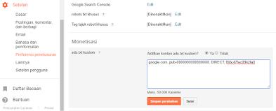Cara Mengaktifkan Ads.txt Untuk Publisher Adsense