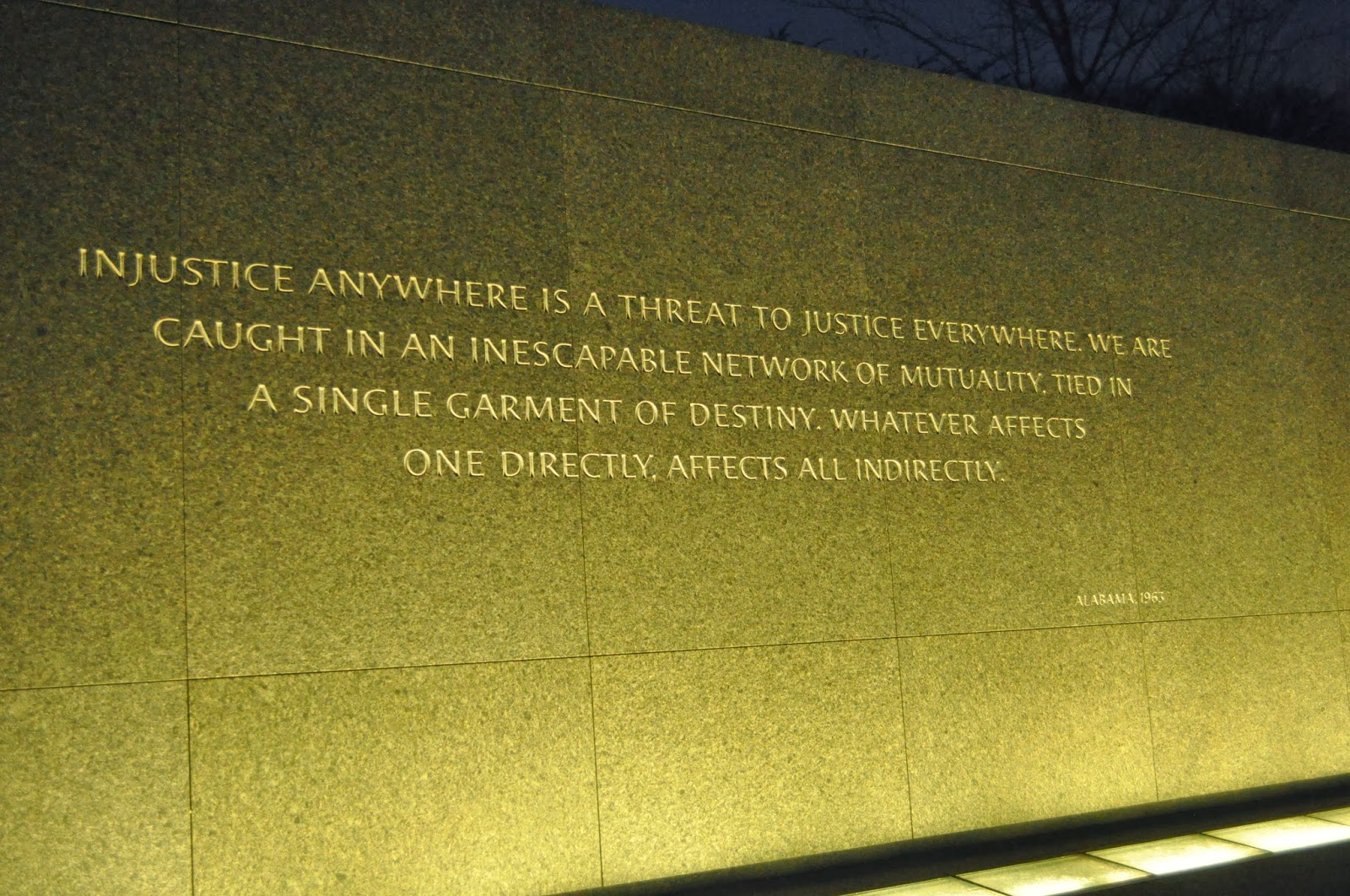 injustice anywhere is a threat to justice everywhere essay essay  a teacher s life for me paemst recognition trip day at the fdr memorial we briefly