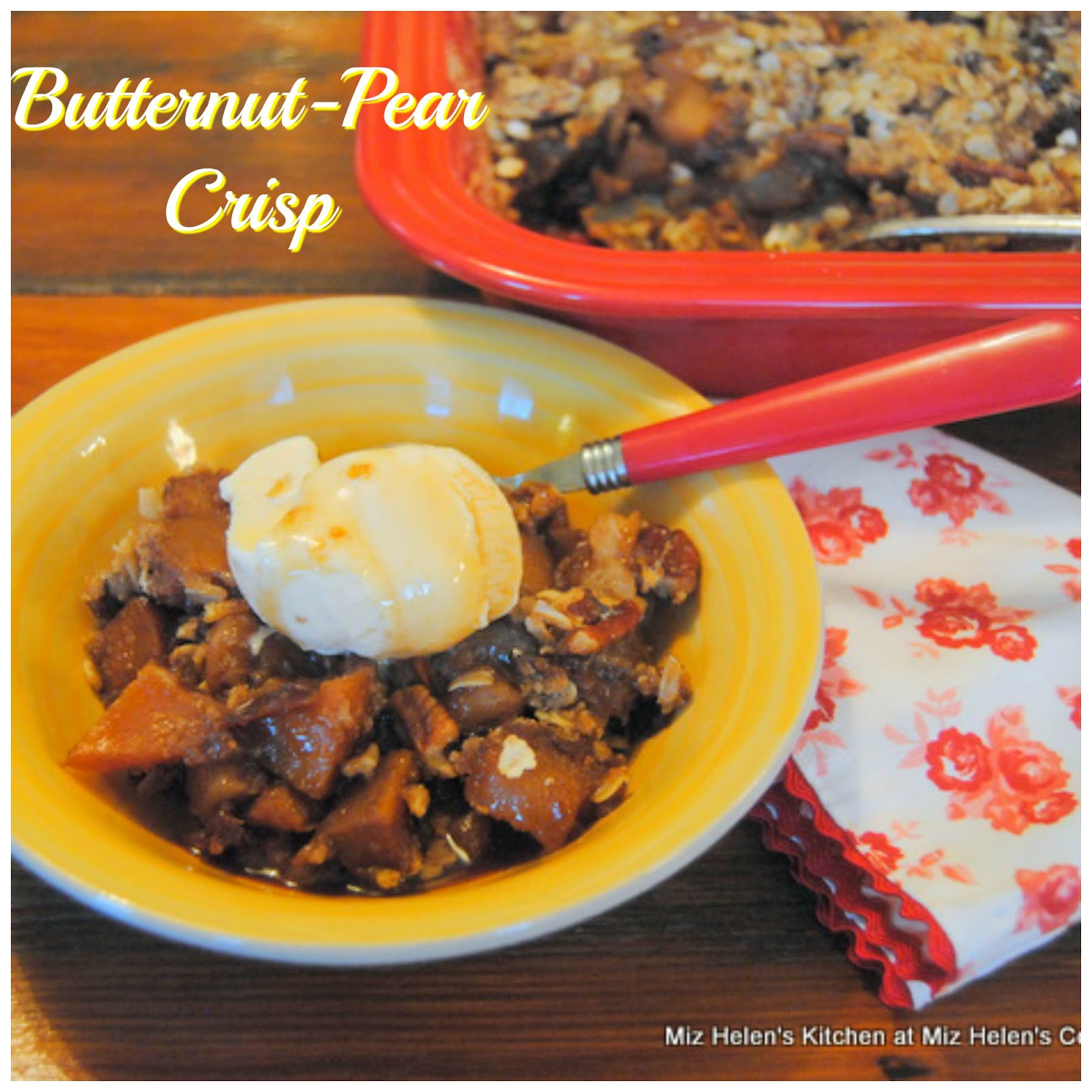 Butternut-Pear Crisp
