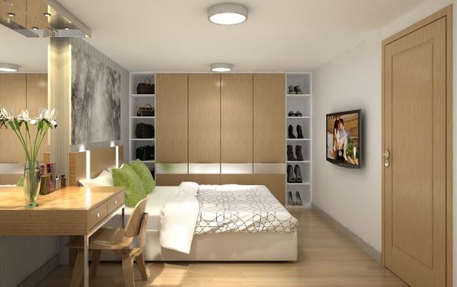 Mẫu thiết kế phòng ngủ căn hộ Goldlight Complex