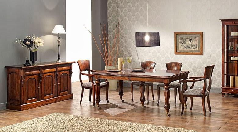 Muebles de comedor 5 comedores clasicos en caoba for Muebles estilo clasico