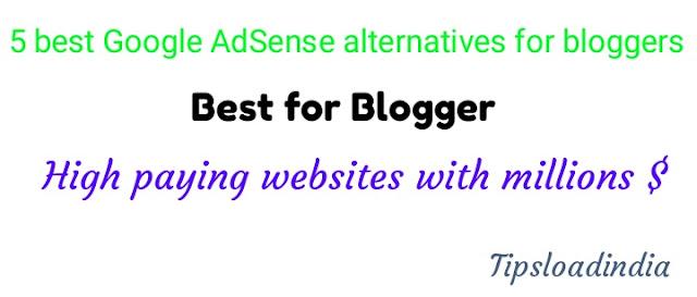 Google AdSense alternatives,best alternative of Google