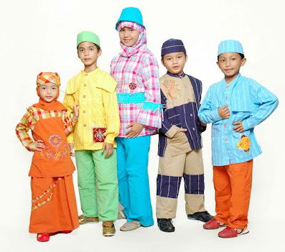 baju gamis anak warna warni