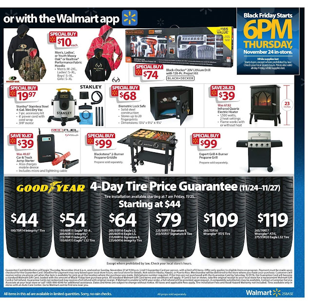 Walmart Black Friday 2016 tools ad