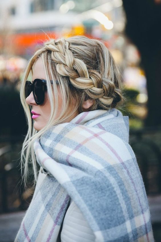 beautiful winter braid idea to make everyday