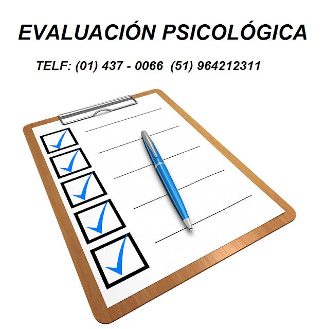 Evaluación Psicológica en Lima Psicólogos