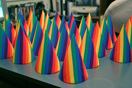 Jeffrey Augustine Songco, party hats