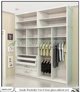 Dalam lemari pakaian minimalis model cabinet unit Vns