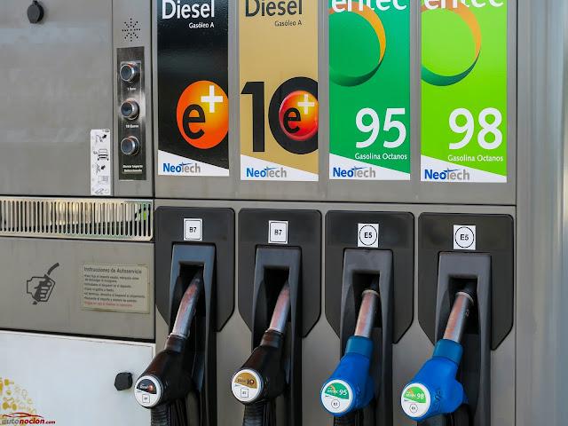 tipos de combustible para coches