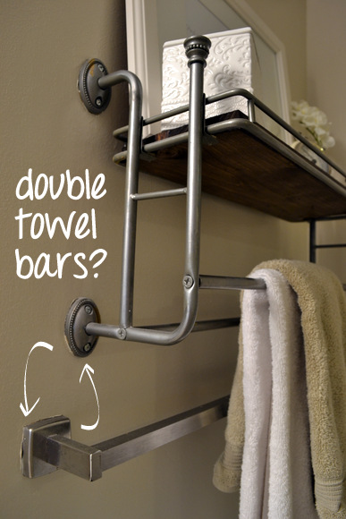 And why are there double towel bars?