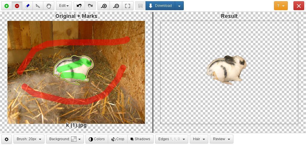 Oryginał Darmowe narzędzia komputerowe: Usuwanie tła ze zdjęcia - edytor SY13