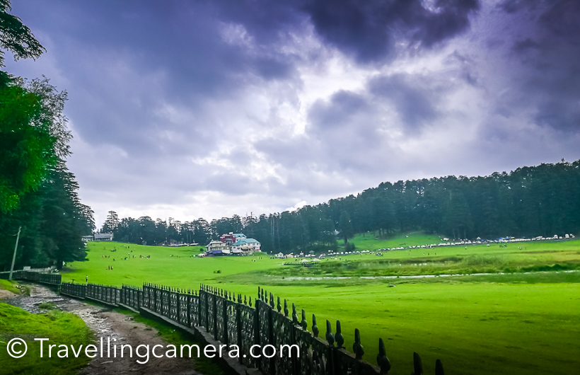 Green view of Khajjiar Valley in Himachal Pradesh