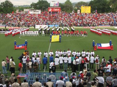 Haití y Chile en partido amistoso, 23 de mayo de 2007