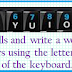 English Brain Teaser to Create Words using first row of keyboard