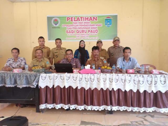 BKAD Kecamatan Pemulutan Selatan Gelar Pelatihan Guru PAUD