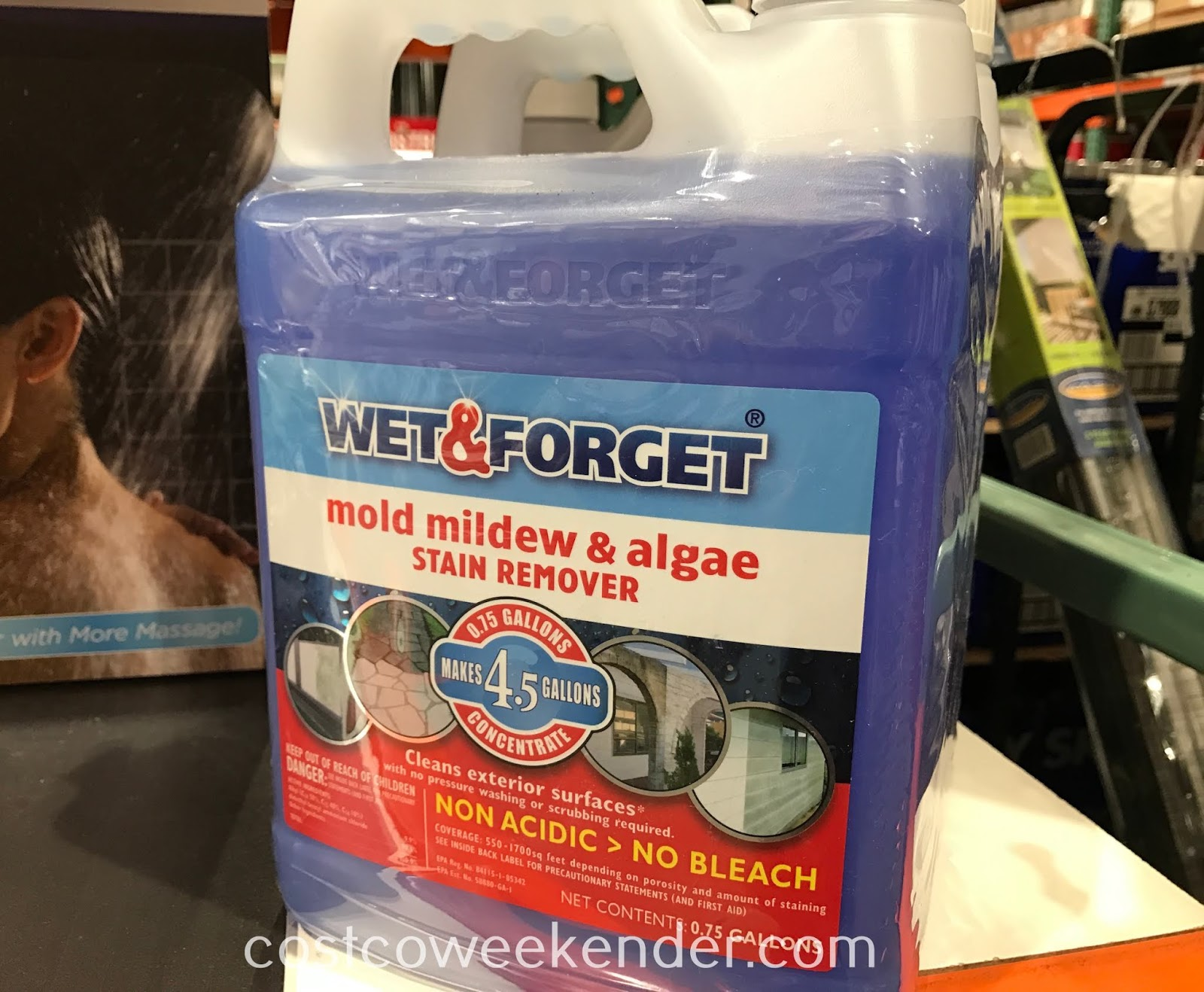 Clean the surfaces around your home with Wet & Forget Mold Mildew & Algae Stain Remover