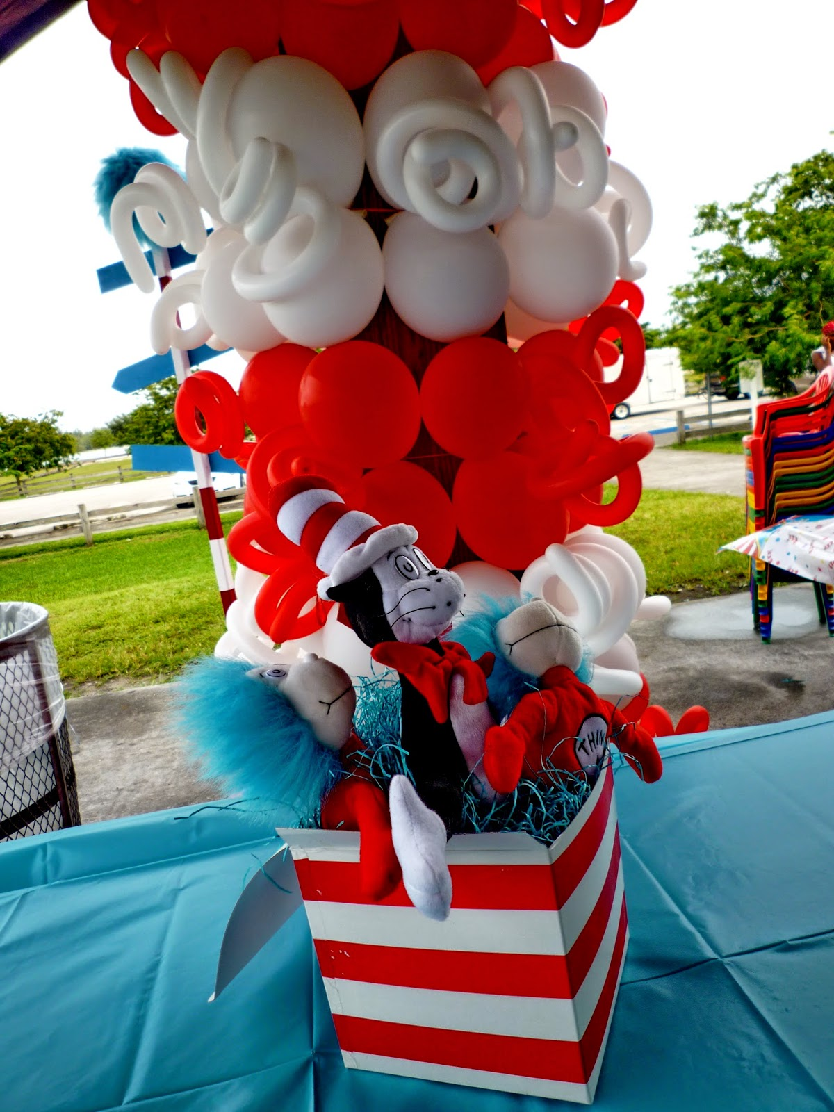 The Cat In The Hat themed kids party decoration