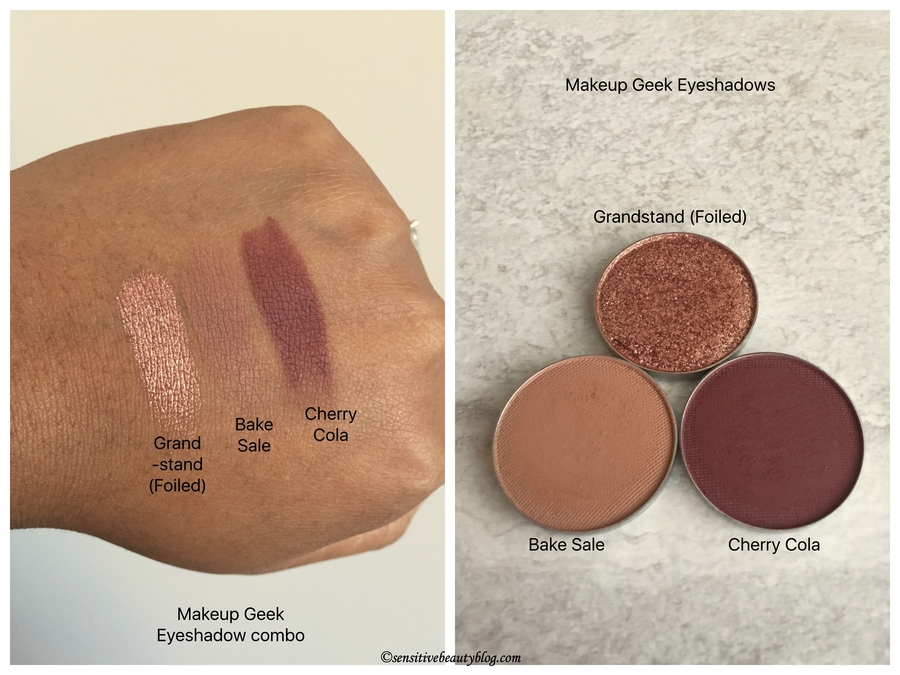 Sensitive Beauty Blog Eyeshadow Combos Vol 10 Makeup Geek Eyeshadows