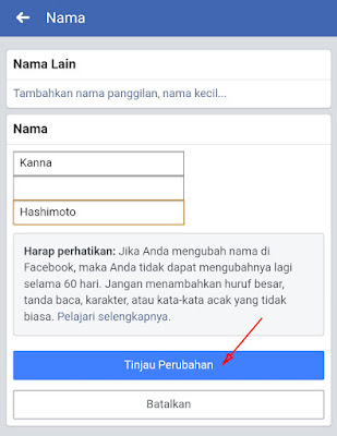 Cara Mengubah Nama di Facebook di HP Lewat Aplikasi 5