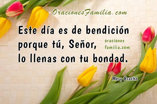 Oración cristiana de la mañana, oración de buenos días con bendiciones con imágenes bonitas por Mery Bracho. Plegarias religiosas para este día.