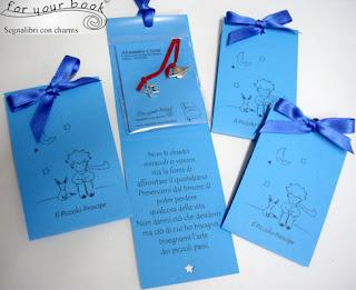 segnalibro cordino piccolo principe regalo alunni