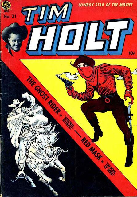 Tim Holt v1 #21 golden age western comic book cover art by Frank Frazetta