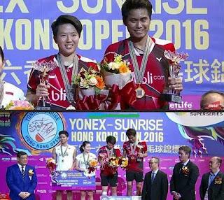 China Tanpa Gelar Lagi, Indonesia Bawa 1 - Berikut Hasil Lengkap Final Hong Kong Open 2016