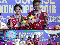 China Tanpa Gelar Lagi, Indonesia Bawa 1 - Hasil dan Video Final Hong Kong Open 2016