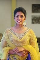 Actress Eesha in Yellow Choli Blue Ghagra at Darshakudu music launch 002.JPG