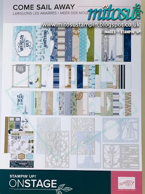 Come Sail Away Suite NEW Stampin' Up! Products #onstage2019 Display Board from Mitosu Crafts UK