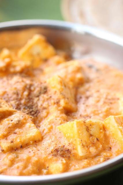 recette paneer noix de cajou