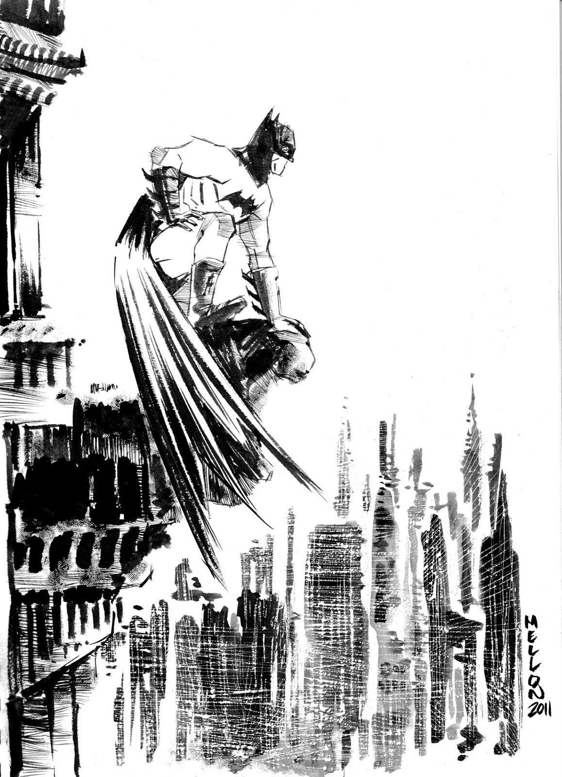 Mellon Batman Sketch