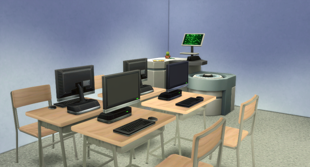 My Sims 4 Blog School Desk and Chair by WestwoodSims