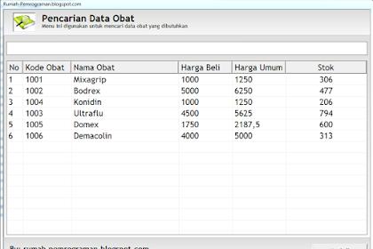 Source Code Aplikasi Pencarian Data dengan Visual Basic 6.0