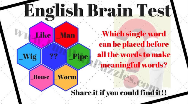 English brain test puzzle question