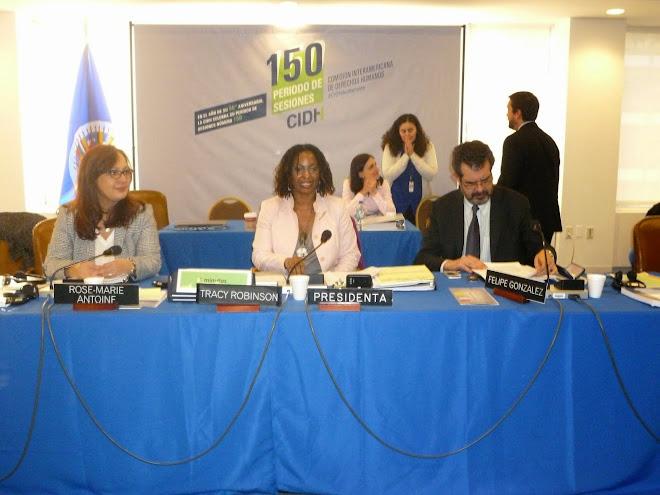PHOTOS DES MEMBRES DE LA DELEGATION HAITIANO-DOMINICAINE A LA REUNION DE LA COMMISSION INTERAMERICAINE DES DROITS DE L'HOMME A WASHINGTON 24 MARS 2014