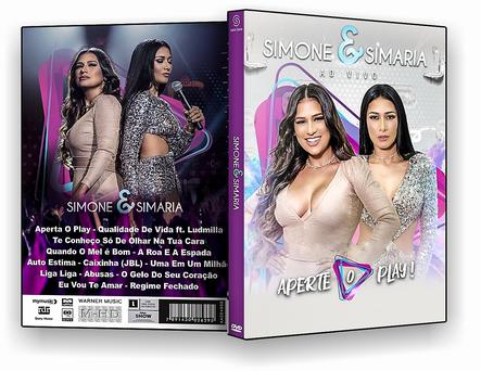 CAPA DVD – Simone & Simaria Ao Vivo Aperte O Play – DVD-R