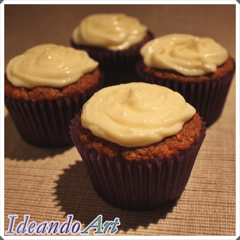 Cupcakes zanahoria cream cheese icing
