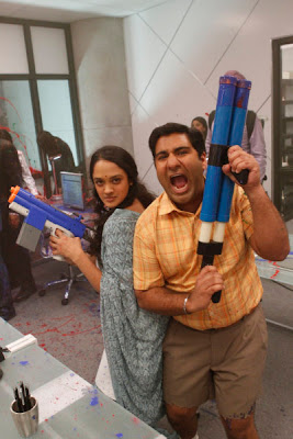 Anisha Nagarajan and Parvesh Cheena, stars of NBC's 'Outsourced'