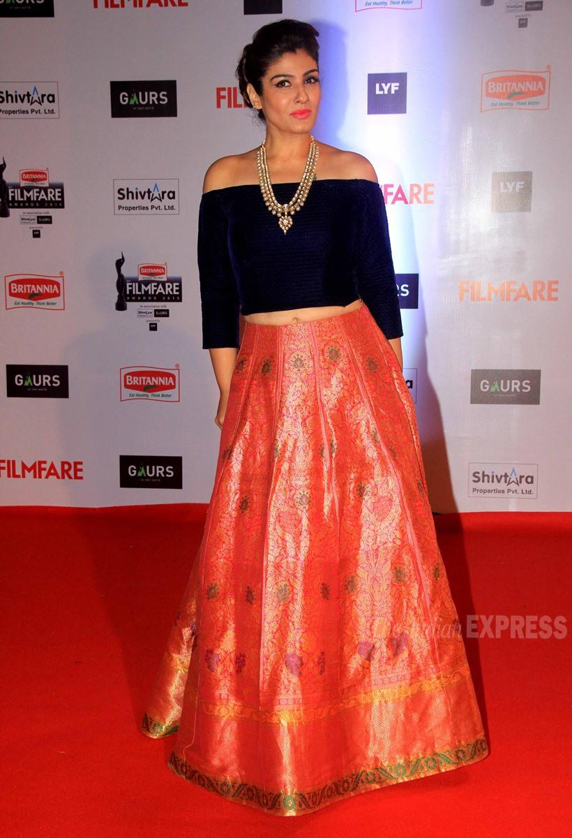 Raveen Tandon at Filmfare Awards 2016, Filmfare awards 2016 best dressed