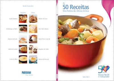 Livro As Receitas Nestle Mais Pedidas dos Últimos 50 Anos