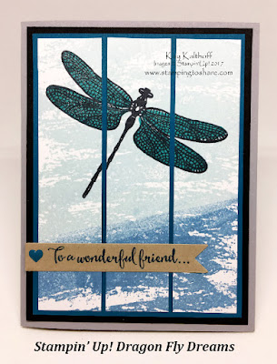 Stampin' Up! Dragonfly Dreams with Watercolor Wash by Kay Kalthoff, Stamping to Share