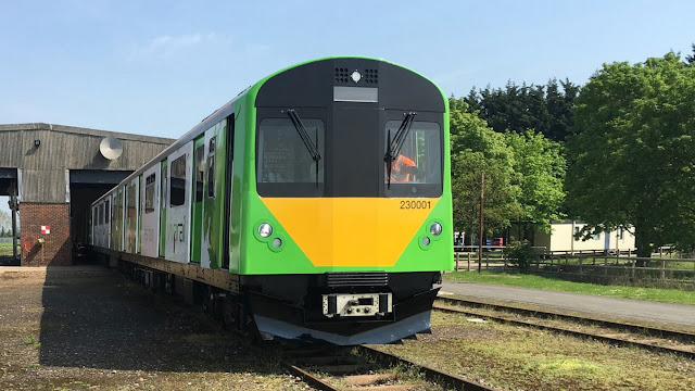 Built at Long Marston the prototype Class 230 D-Train, constructed from former London Underground rolling stock is at present being tested on the main line.